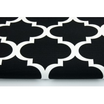 Cotton 100% HOME DECOR, HD moroccan trellis on a black background 2