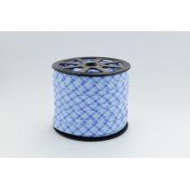 Cotton bias binding blue check 5mm pattern