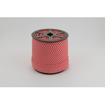 Lamówka bawełniana w 2mm czerwone paseczki