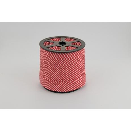 Cotton bias binding 2mm red stripes