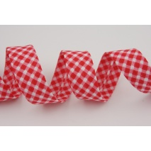 Cotton bias binding red vichy check
