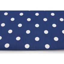 Cotton 100% polka dots 17mm on a navy blue background