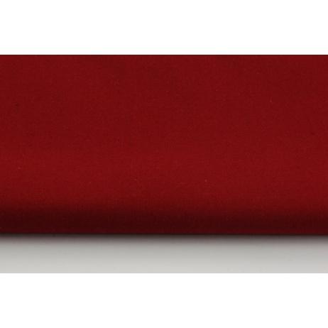 Bawełna 100% bordowa, jednobarwna