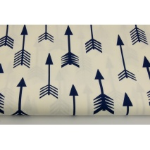 Cotton 100% navy arrows on a white background