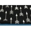 Cotton 100% white arrows on a black background