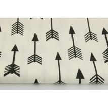 Cotton 100% black arrows on a white background