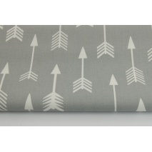 Cotton 100% white arrows on a light gray background
