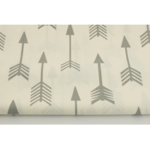 Cotton 100% light gray arrows on a white background