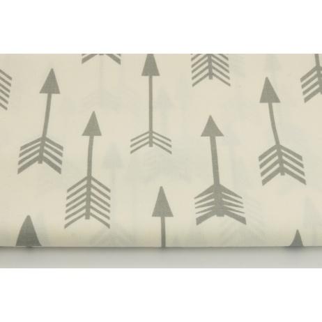 Bawełna 100% jasnoszare strzałki na białym tle
