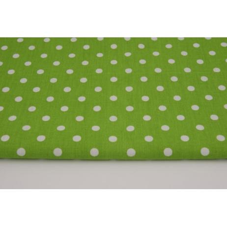 Bawełna 100% kropki 7mm na zielonym tle M