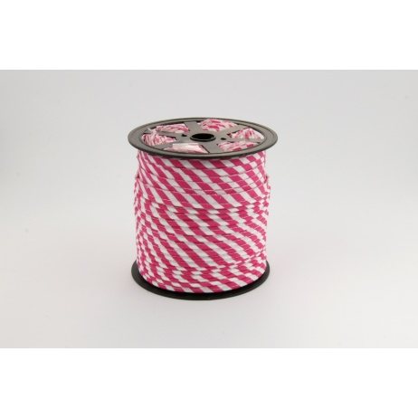 Cotton edging ribbon 5mm fuchsia stripes