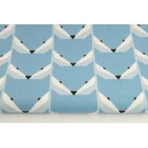 Cotton 100% foxes blue
