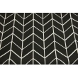 Cotton 100% geometric zigzag black and white