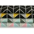 Bawełna 100% zygzak geometryczny musztardowo-czarny