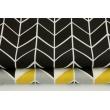 Bawełna 100% zygzak geometryczny czarno-biały
