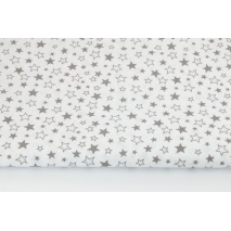 Cotton 100% mix gray stars on a white background