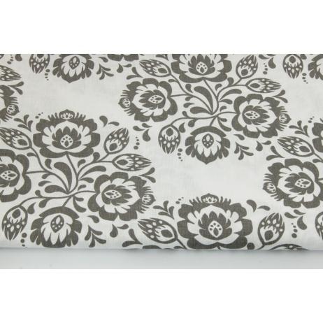 Cotton 100% mix gray stars on a white background