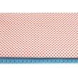 Bawełna 100% biała w czerwone kropeczki 3mm