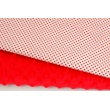 Cotton 100% red polka dots 3mm on a white background