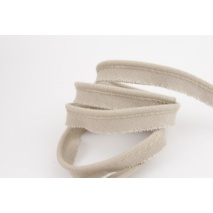 Cotton edging ribbon cold beige