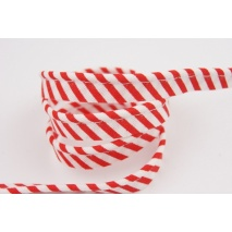 Cotton edging ribbon red-white stripes