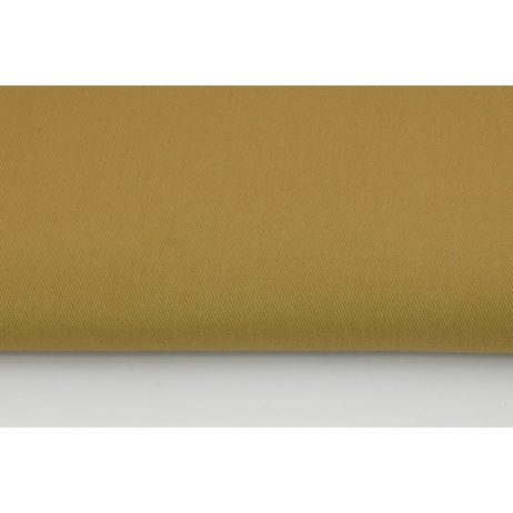 Drill, 100% cotton fabric in a plain light beige colour 215g/m2