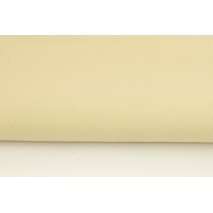 Drill, 100% cotton fabric in a plain light beige colour 215g/m2