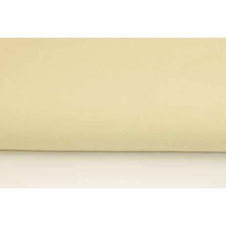 Drelich, bawełna 100%, jednobarwna jasnobeżowa 215g/m2