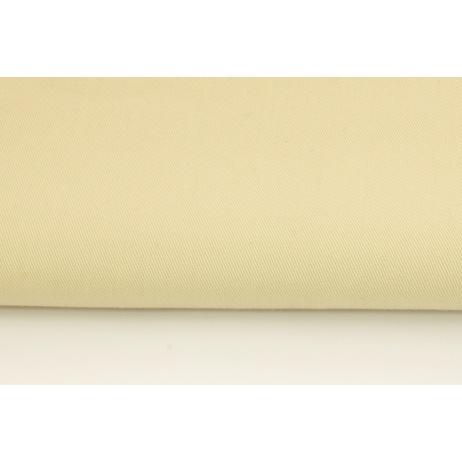Drill, 100% Cotton Fabric In A Plain Light Beige Colour
