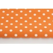 Cotton 100% dots 9mm on an orange background