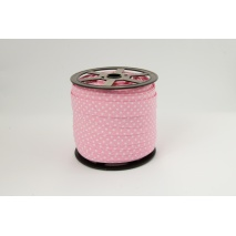 Cotton bias binding pink (2) dotted 18mm