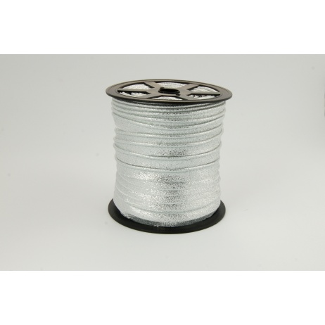 Edging ribbon silver glitter