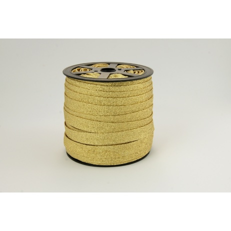 Bias binding gold glitter