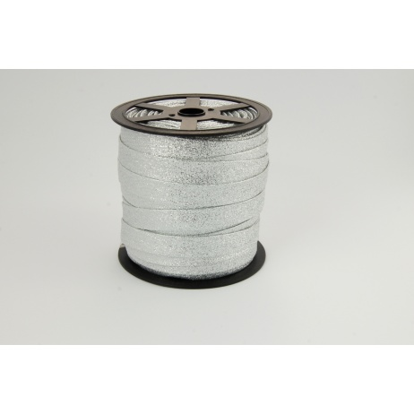 Bias binding silver glitter