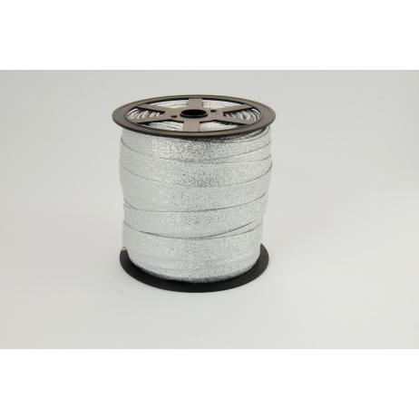Lamówka srebrna brokat