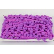 Purple ribbon with small pom poms - double thread