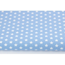 Cotton 100% 1cm white stars on a blue background