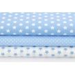 Cotton 100% 1cm white stars on a blue background