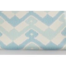 Cotton 100%, Home Decor, zigzag in shades of turquoise