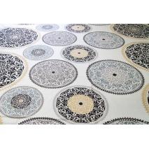 Bawełna 100%, wzór orientalny beżowo-szary XL 220 cm