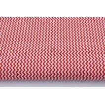 Bawełna 100% mini zygzak czerwony