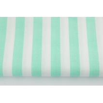 Cotton 100% mint stripes 15mm