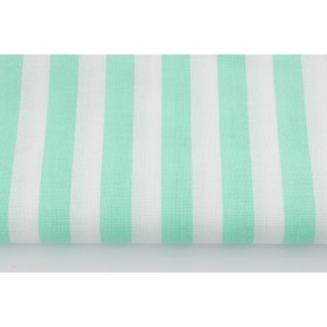 Cotton 100% mint stripes 15mm