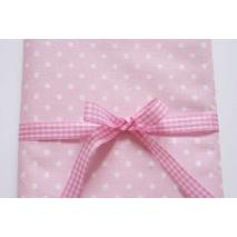 Bawełna 100% kropki 4mm na różowym tle *1m*