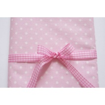 Cotton 100% dots 4mm on a pink background