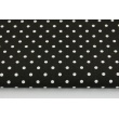 Cotton 100% 4mm dots on a black background