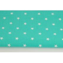 Bawełna 100% gwiazdki białe 1cm na morskim tle