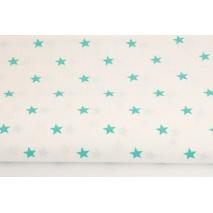 Bawełna 100% gwiazdki morskie 1cm na białym tle