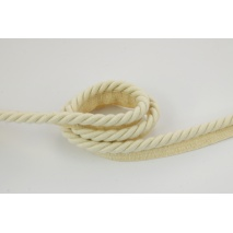 Natural 10mm Cotton Cord with ribbon