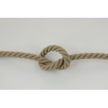 Dark beige 10mm Cotton Cord